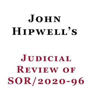 John Hipwell Judicial Review