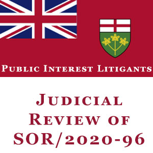 Support the Public Interest Litigants Judicial Review